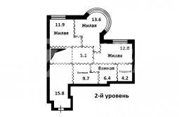 Продается 5-комнатная 2-х уровневая квартира под чистовую отделку в ЖК «МИРАКС-ПАРК»